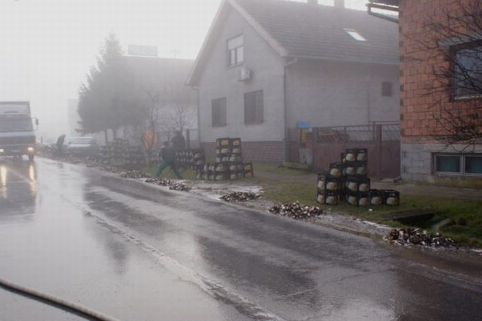 10,000 Bottles of Beer Destroyed (11 pics)