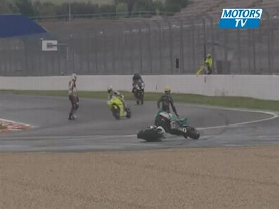 Unusual Crash for Two Race Bikes