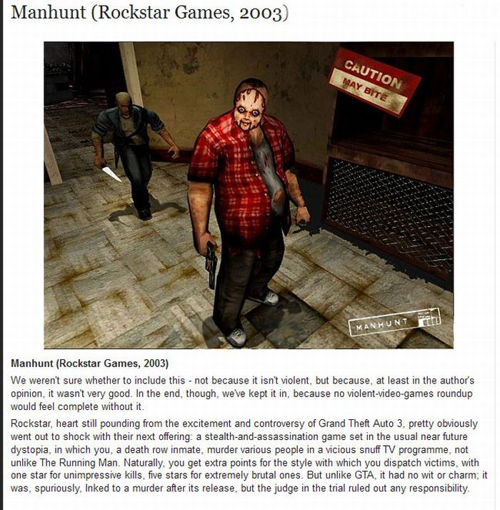 The Best Violent Video Games of All Time (11 pics)