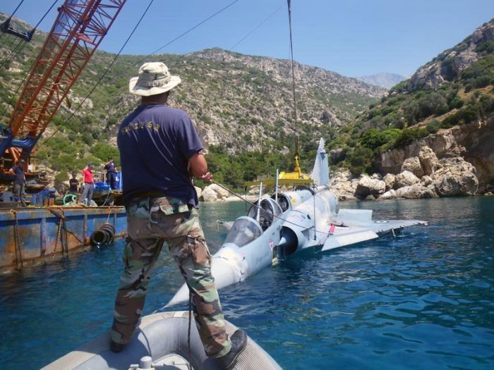 Greek Fighter Salvaged from Aegean Sea (7 pics)