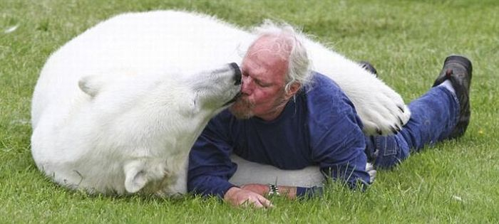 Man and a Polar Bear (6 pics)