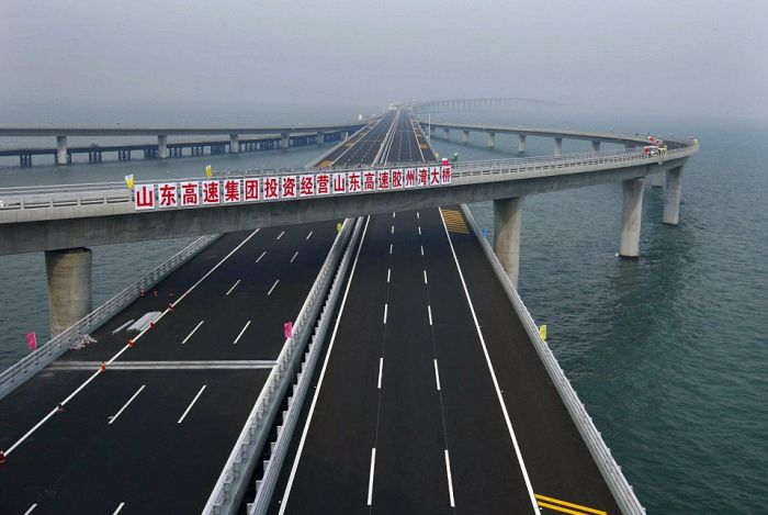 World's Longest Sea Bridge (14 pics + video)