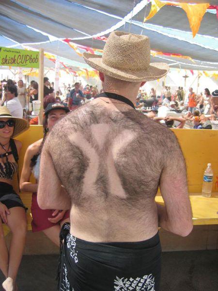 Back Hair Art (15 pics)