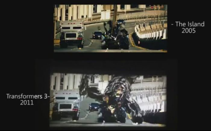 Island (2005) vs Transformers 3 (2011) (pic + 1 gif + video)