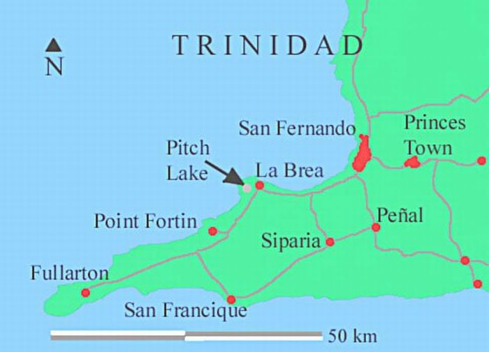 Asphalt Lake in Trinidad (18 pics)