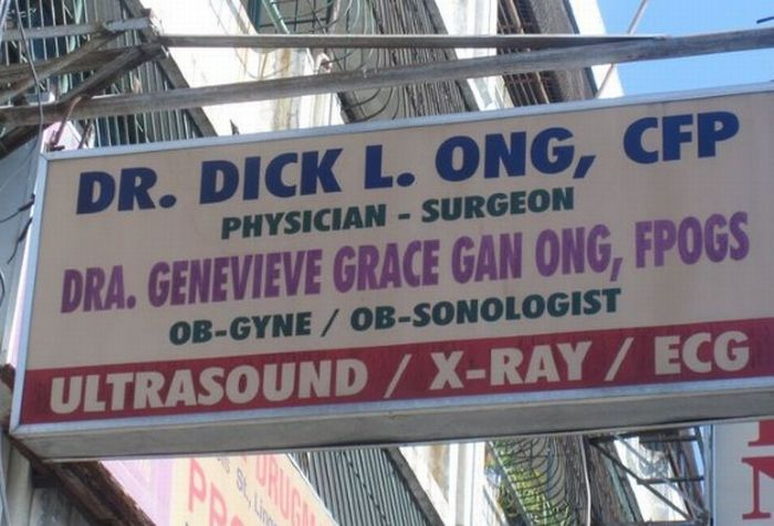 Hilarious Doctor Names (20 pics)