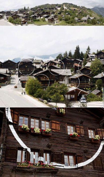 Illusion in Alps (15 pics)