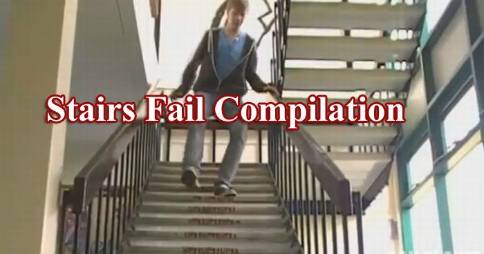 Stairs Fail Compilation (video)