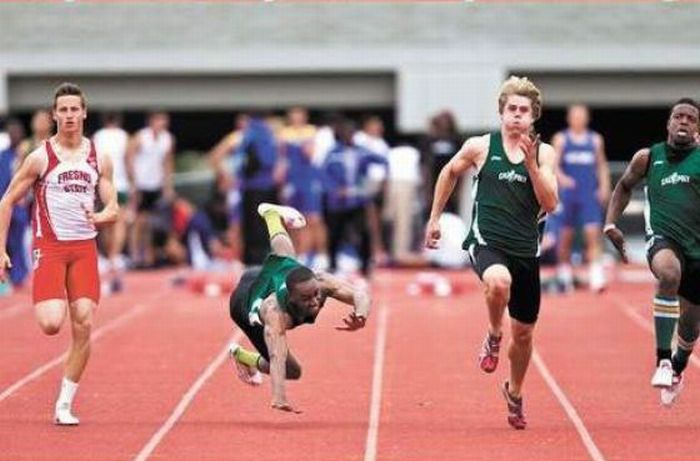 Painful Sprinting Accident (7 pics)