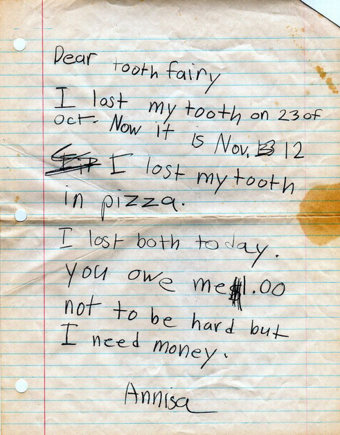 Tooth Fairy Letters (4 pics)