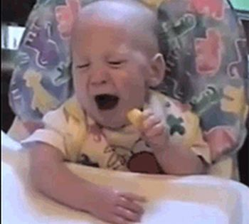 Babies Tasting Lemons for the First Time (12 gifs)