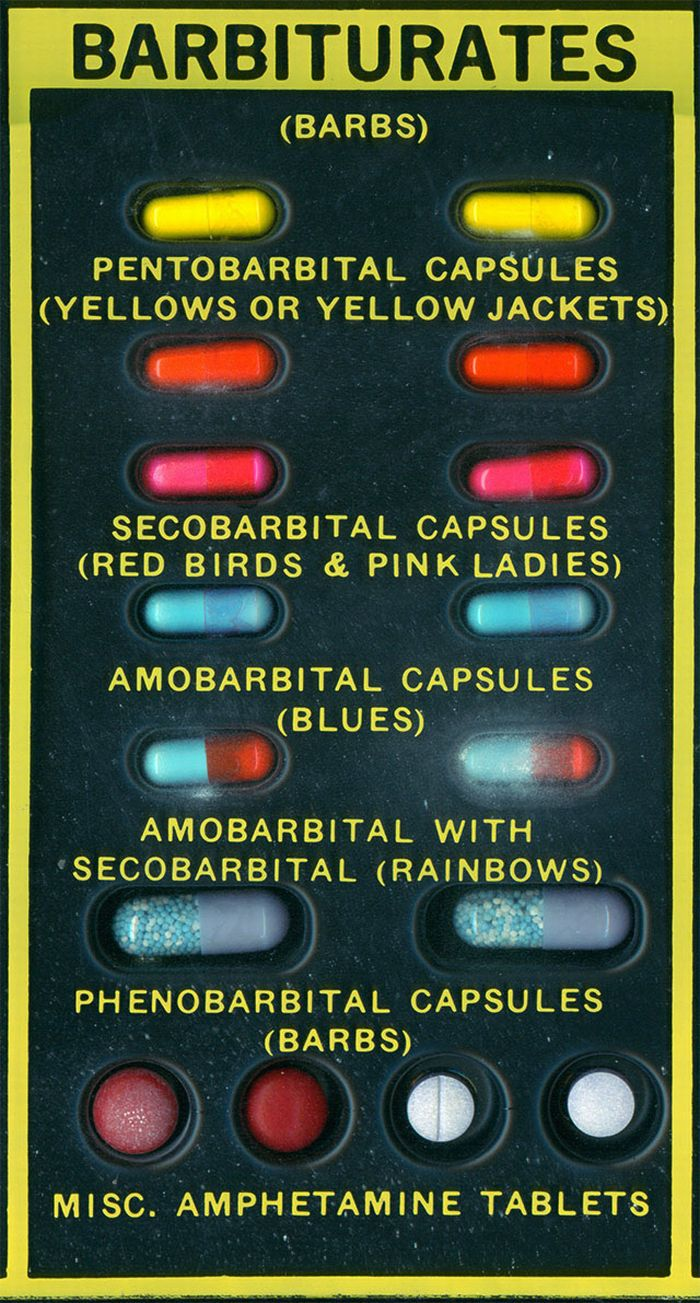 1960s Narcotics & Dangerous Drugs Identification Kit (5 pics)