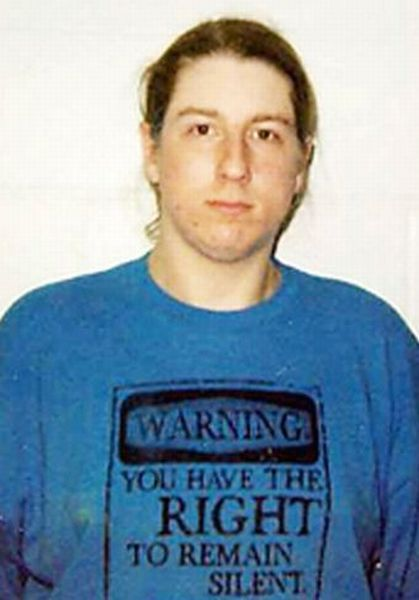Mug Shots of People Wearing Weird and Funny T-Shirts (40 pics)