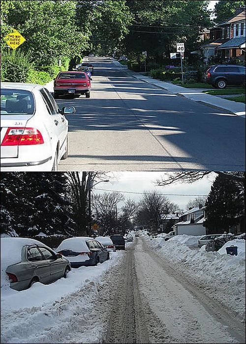 Summer vs Winter (18 pics)