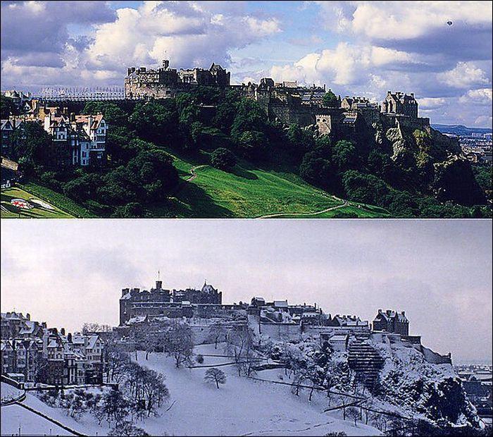 Summer vs Winter (18 pics)