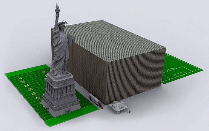 Representation of US Debt With $100 Bills (9 pics)