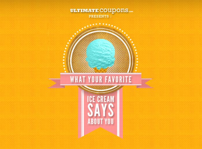 What Your Favorite Ice Cream Says About You (infographic)