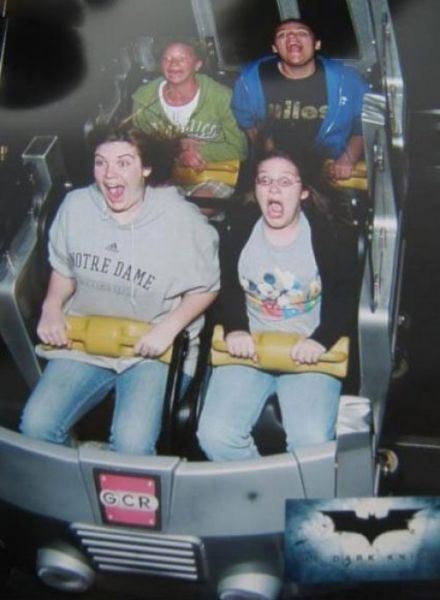 People Riding Roller Coasters (64 pics)
