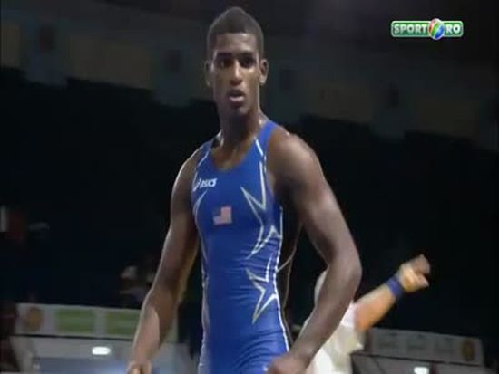Unbelievable Take-Down in a Greco-Roman Wrestling