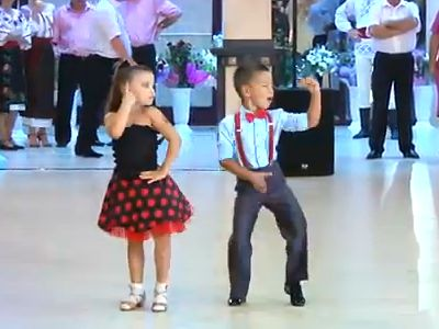 Cute Little Miss and Little Mister Moldova