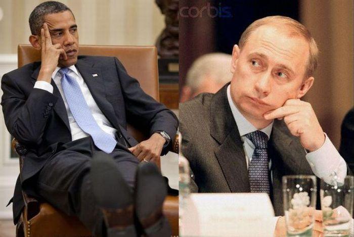 Putin vs Obama (12 pics)