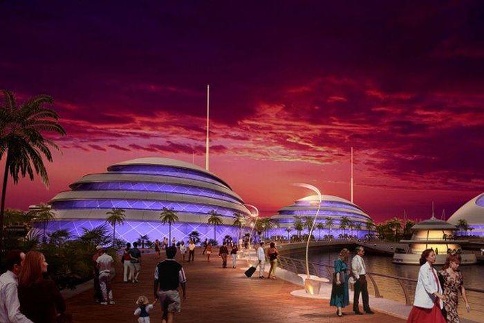 "Luxury Resort ""Amphibious 1000"" in Qatar (11 pics)"
