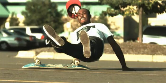 Slow Motion Skateboarding Slams (video)