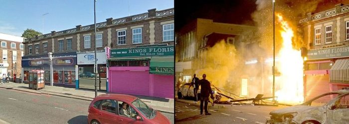 Riots in London: Before and After (6 pics)