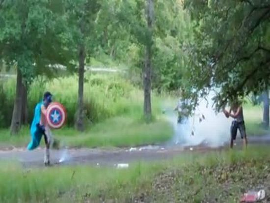 Captain Awesome vs. Artillery Shell