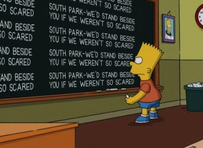 Bart At Blackboard Set Of Pics (70 pics)