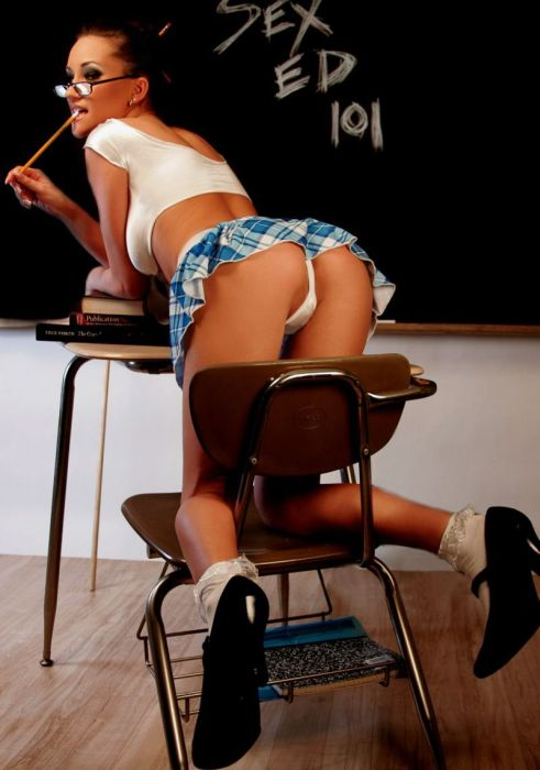 Cuties In School Uniform (77 pics)