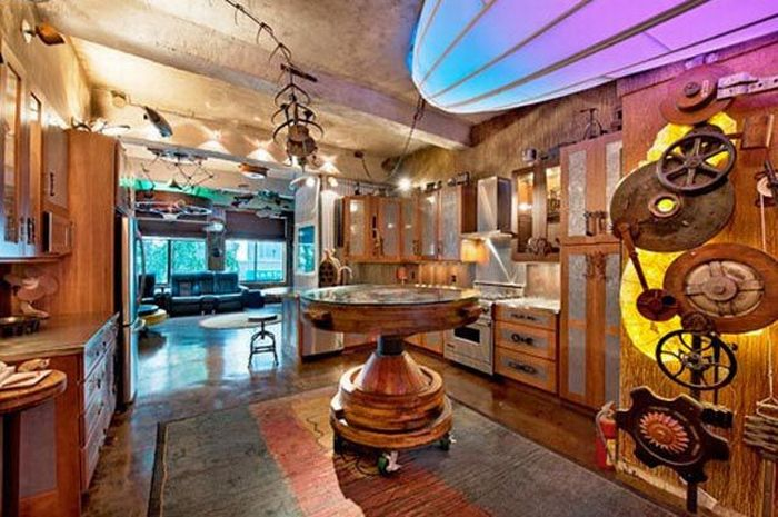 Remodeled Steampunk Apartment (10 pics)