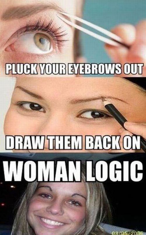 Weird Woman's Logic (8 pics)