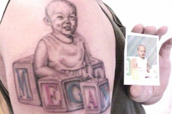The Worst Baby Portrait Tattoos (15 pics)