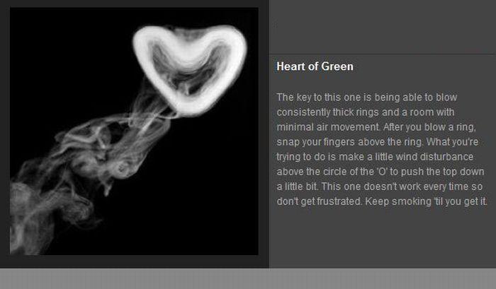 Cigarette Smoke Tricks (7 pics)