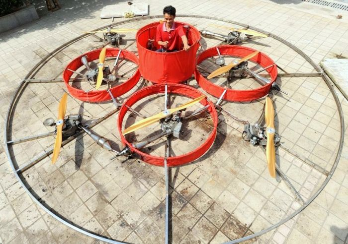 Chinese Farmer Creates Homemade Flying Saucer (11 pics)