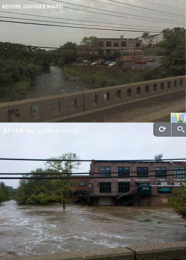 Before & After Hurricane Irene (17 pics)
