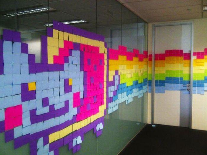 Cool Post-It Note Office Art (21 pics)