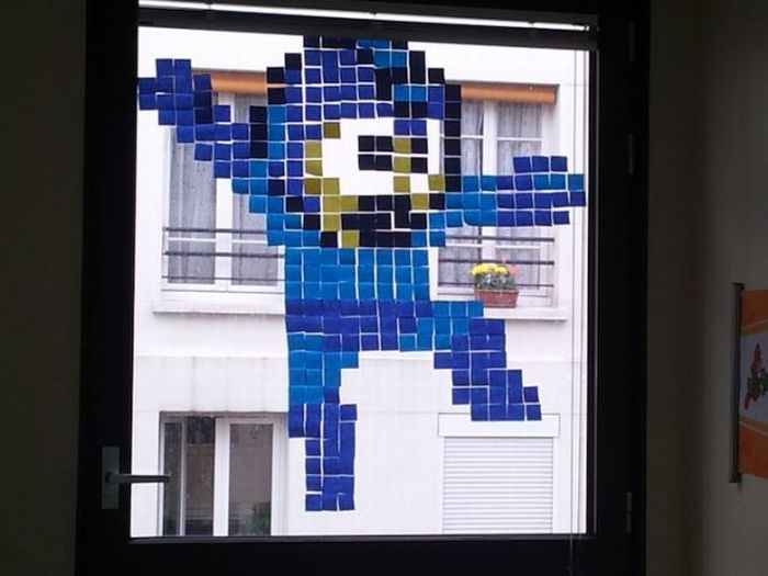 Cool Post-It Note Office Art (21 pics)