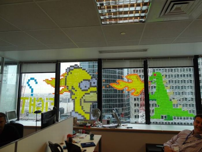 cool office art. Cool Office Art. Post-it Note Art (21 Pics) E P
