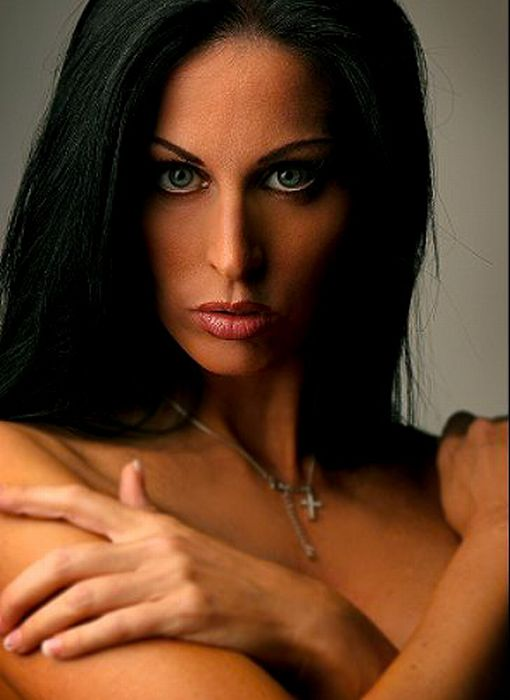 Hot black haired woman