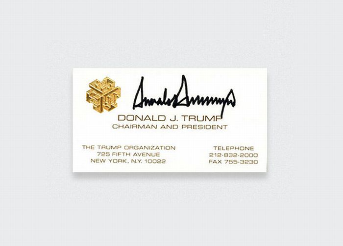 TOP 10 Famous Business Cards (10 pics)