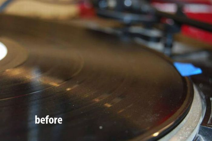 The Best Way to Clean Dirty Vinyl Disks (9 pics)