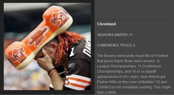 14 Teams That Have Never Won The Lombardi Trophy (14 pics)