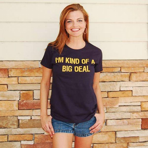 Cute Girls In Hilarious T-Shirts (66 pics)