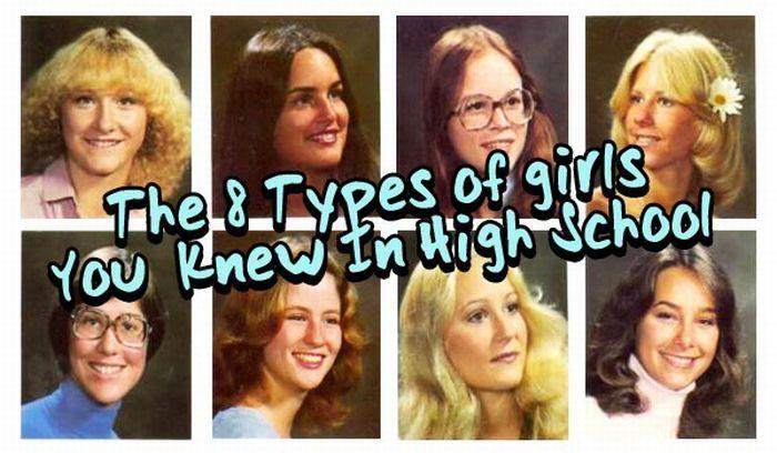 TOP 8 Types of High School Girls (8 pics)