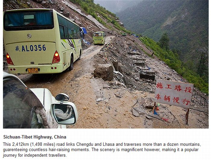 Most Dangerous Roads Around The World (15 pics)