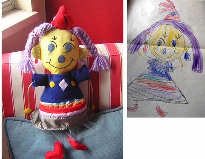 Stuffed Toys Based on Children's Drawings (18 pics)