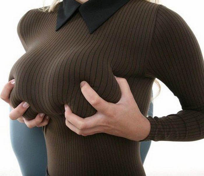Teens in tight sweaters