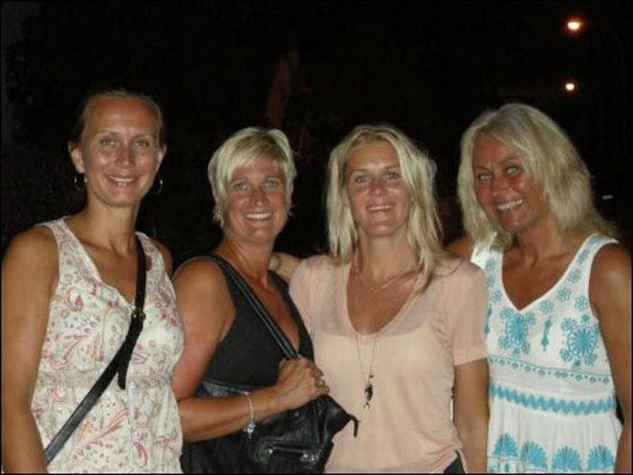 Flasher Got Busted by Four Blondes (4 pics)